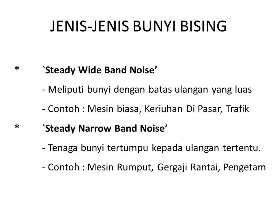 JENIS-JENIS BUNYI BISING