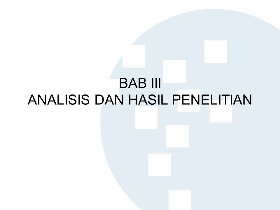 BAB III ANALISIS DAN HASIL PENELITIAN