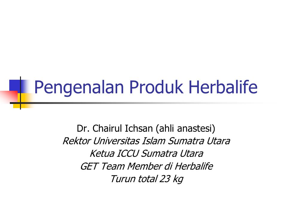 Pengenalan Produk Herbalife