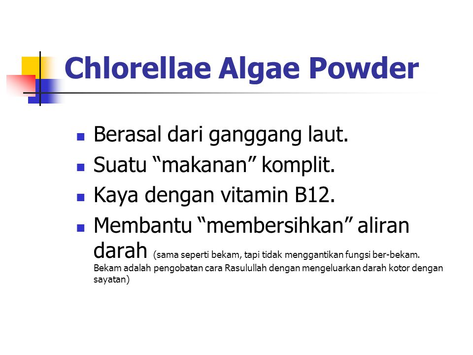 Chlorellae Algae Powder