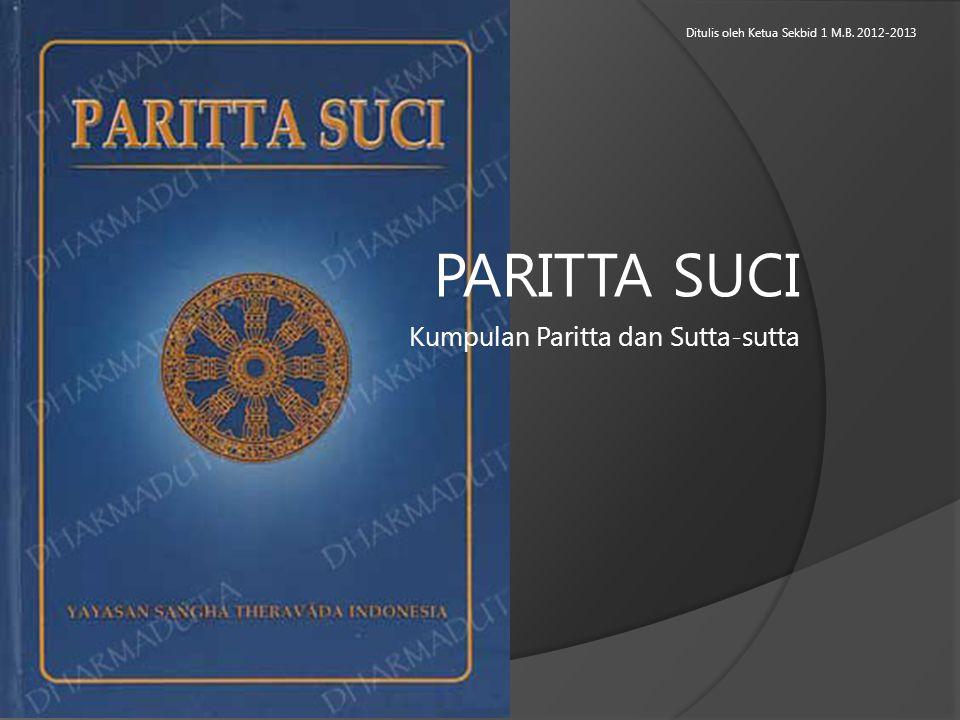Kumpulan Paritta dan Sutta-sutta