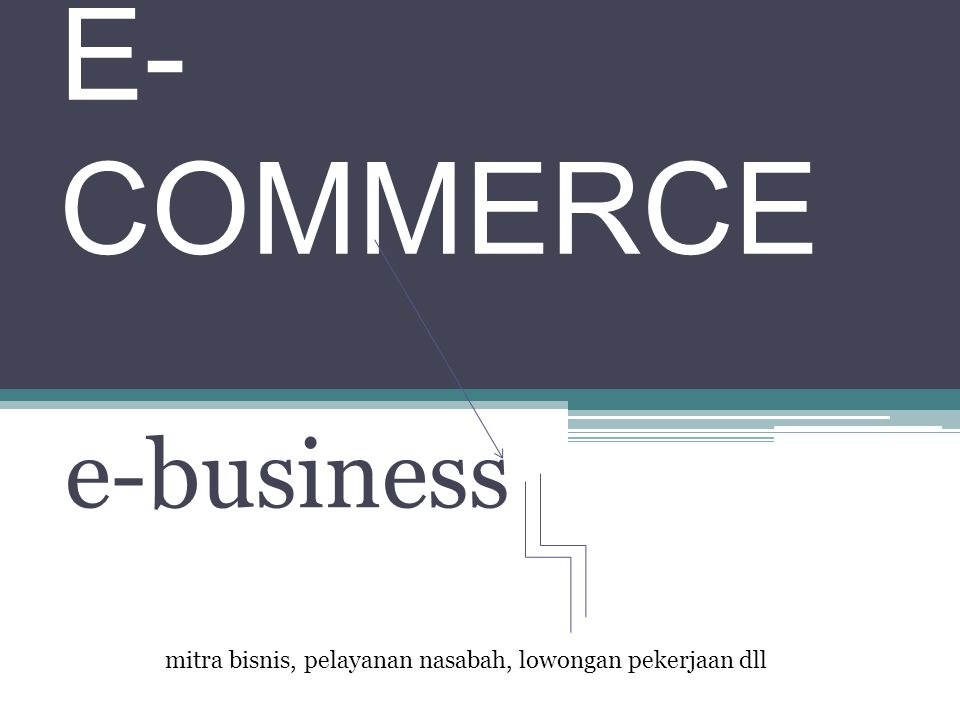 E-COMMERCE e-business