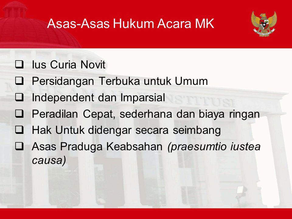 Asas-Asas Hukum Acara MK