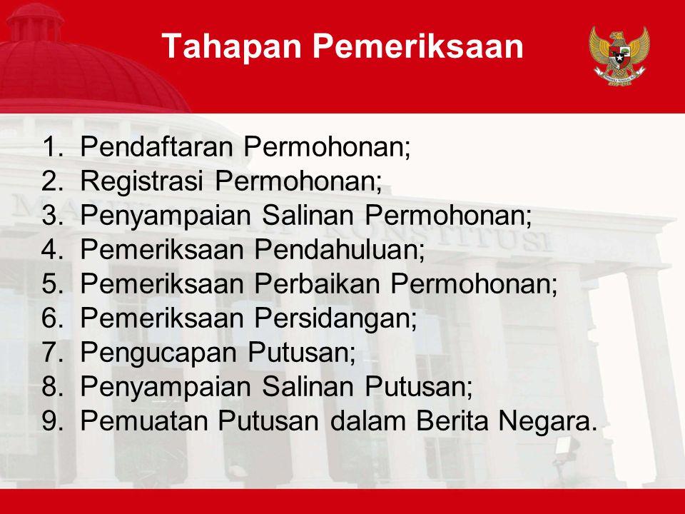 Tahapan Pemeriksaan Pendaftaran Permohonan; Registrasi Permohonan;