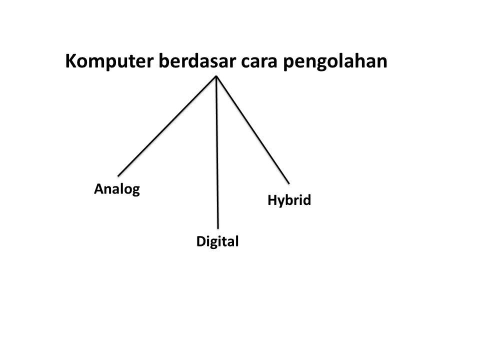 Komputer berdasar cara pengolahan