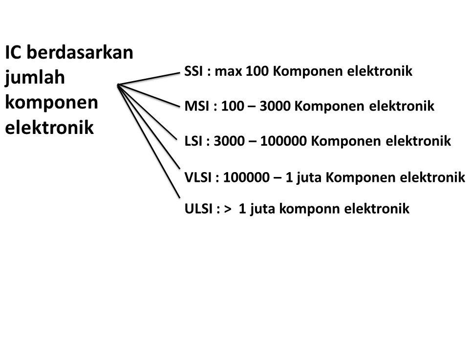 IC berdasarkan jumlah komponen elektronik