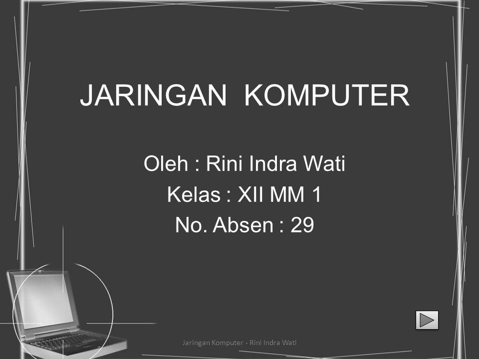 Oleh : Rini Indra Wati Kelas : XII MM 1 No. Absen : 29