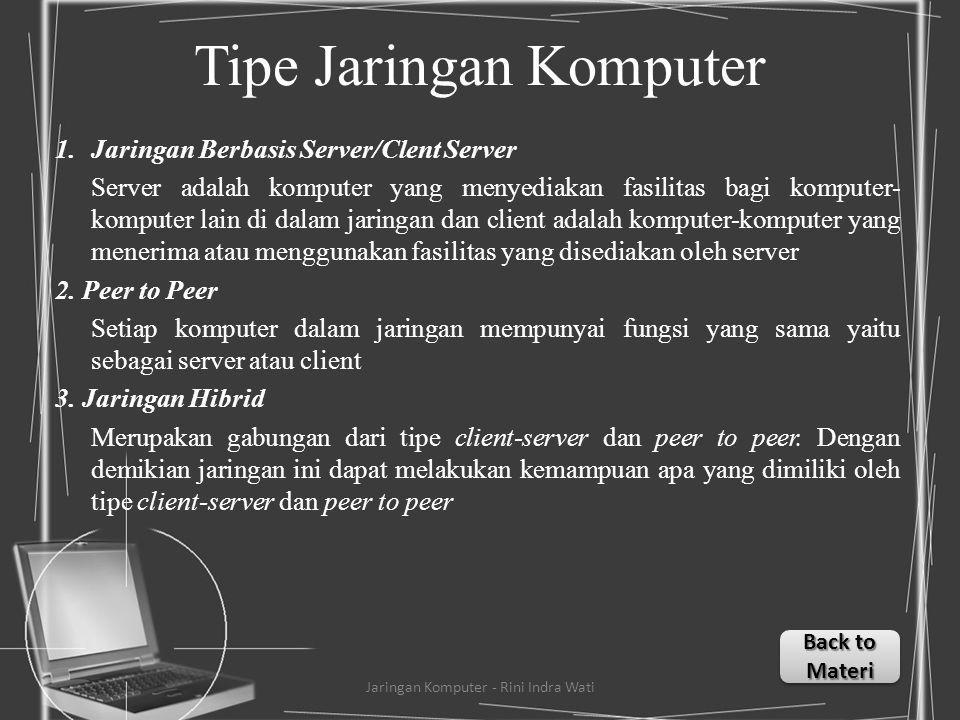 Tipe Jaringan Komputer