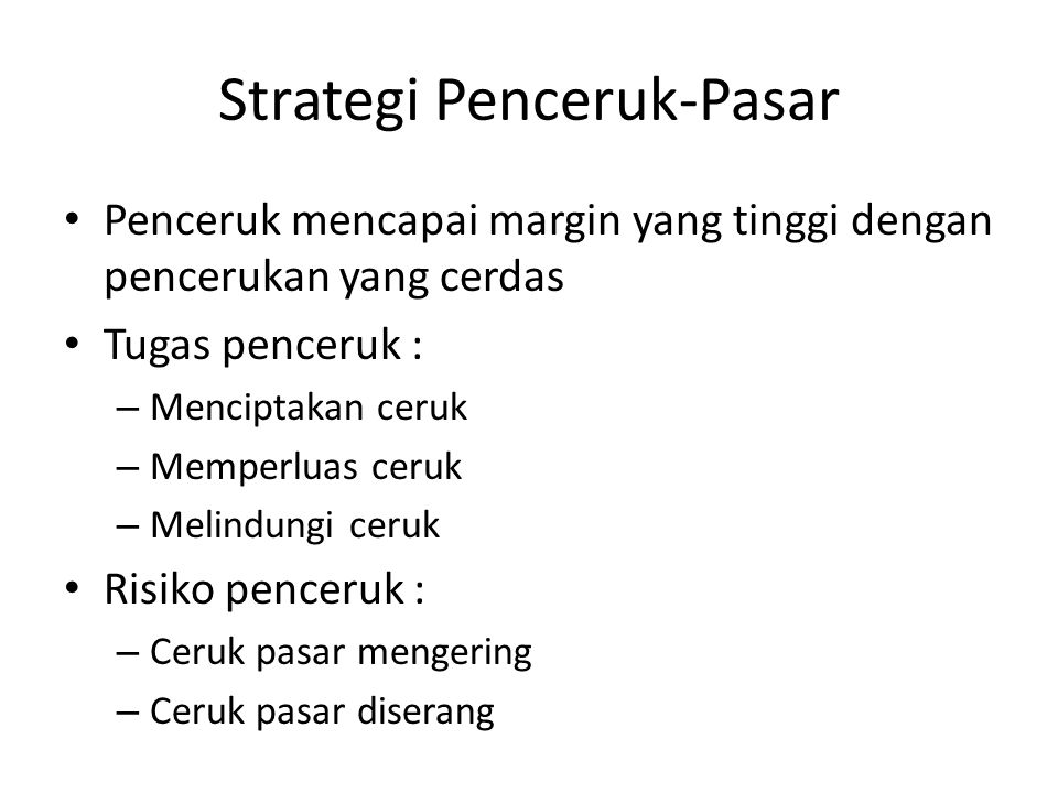 Strategi Penceruk-Pasar