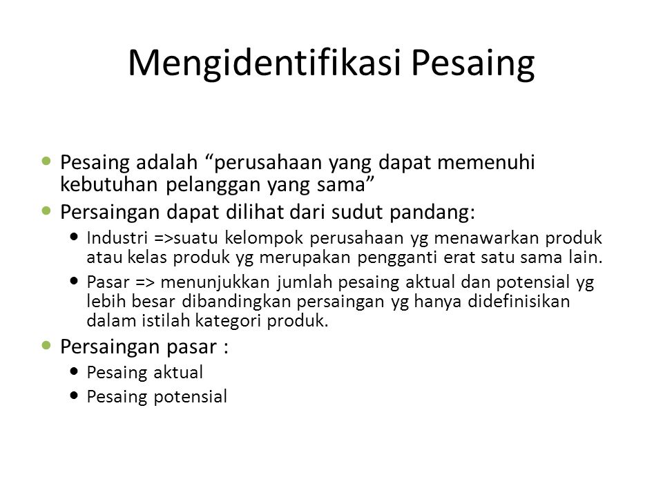 Mengidentifikasi Pesaing