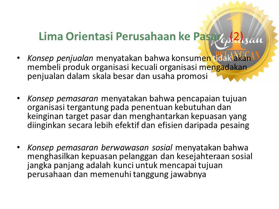 Lima Orientasi Perusahaan ke Pasar (2)