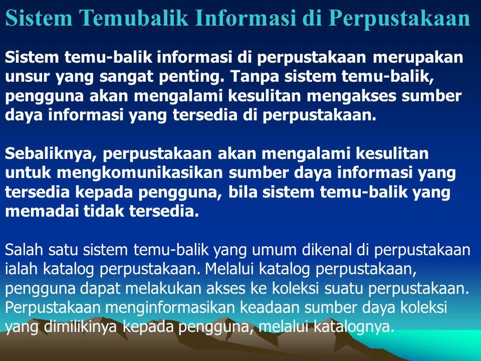 Sistem Temubalik Informasi di Perpustakaan