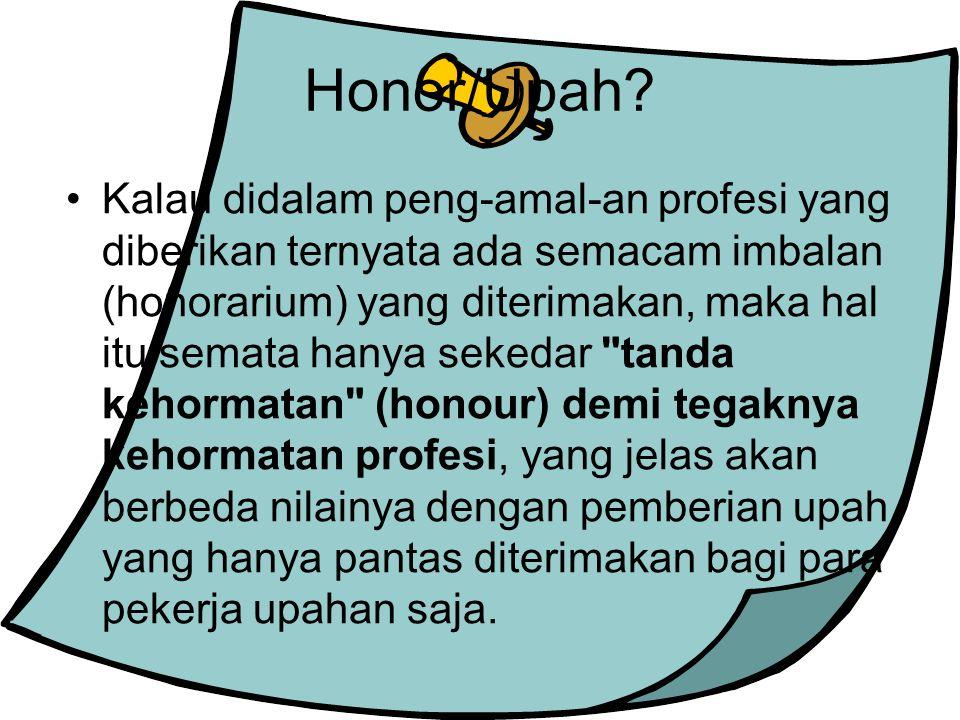 Honor/Upah