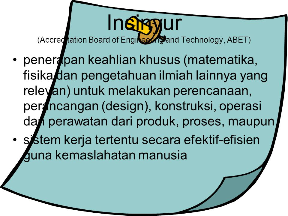 Insinyur (Accreditation Board of Engineering and Technology, ABET)