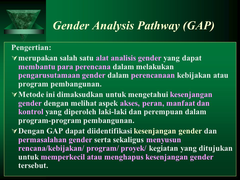 gender analysis Gender analysis explores gender differences so policies, programs and projects can identify and meet the different needs of men and women it also facilitates the strategic use of the distinct knowledge and skills women and men possess.
