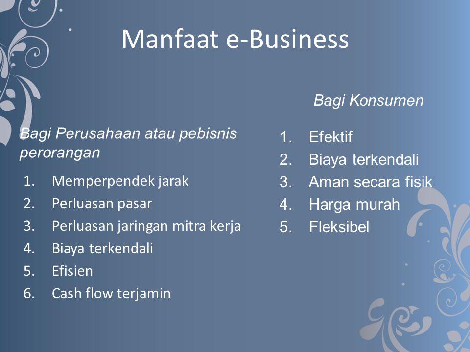 Manfaat e-Business Bagi Konsumen