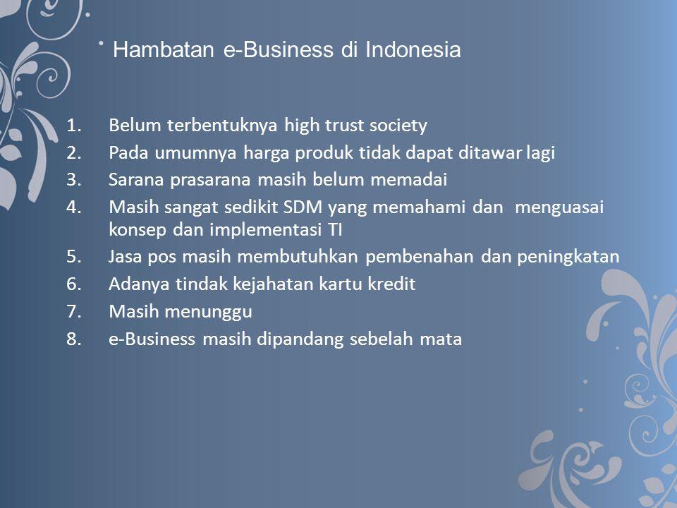 Hambatan e-Business di Indonesia