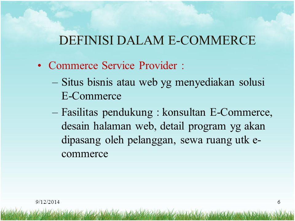 DEFINISI DALAM E-COMMERCE