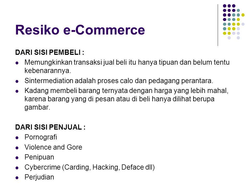 Resiko e-Commerce DARI SISI PEMBELI :