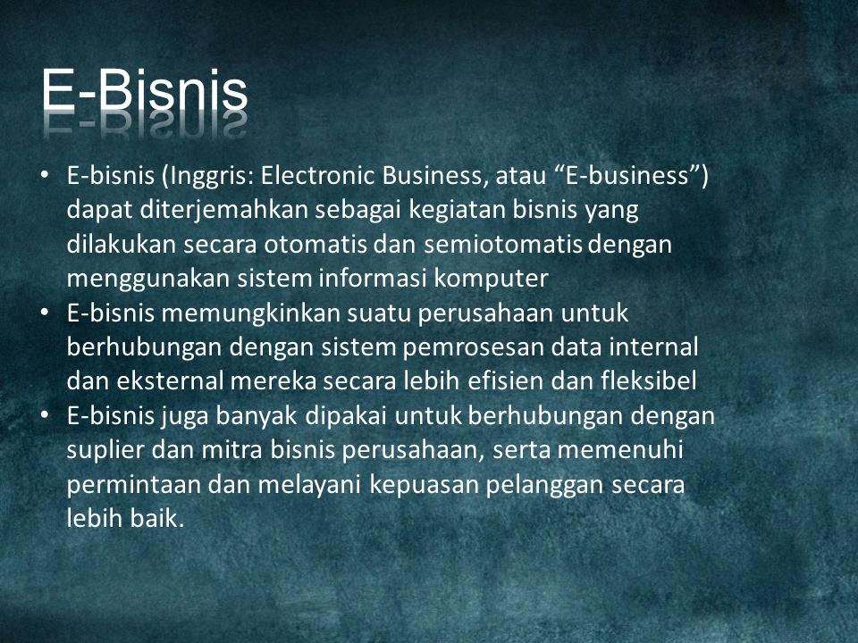 E-Bisnis