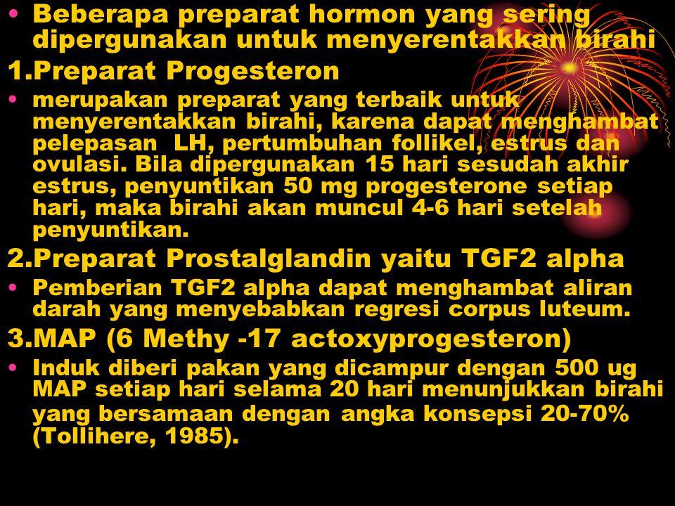 2.Preparat Prostalglandin yaitu TGF2 alpha