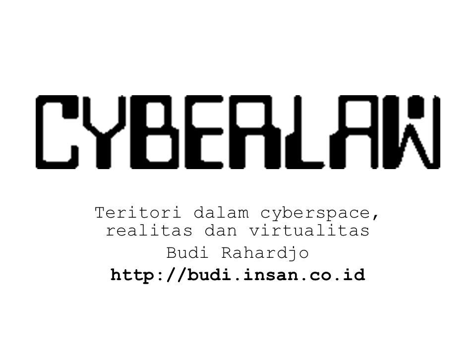 Teritori dalam cyberspace, realitas dan virtualitas