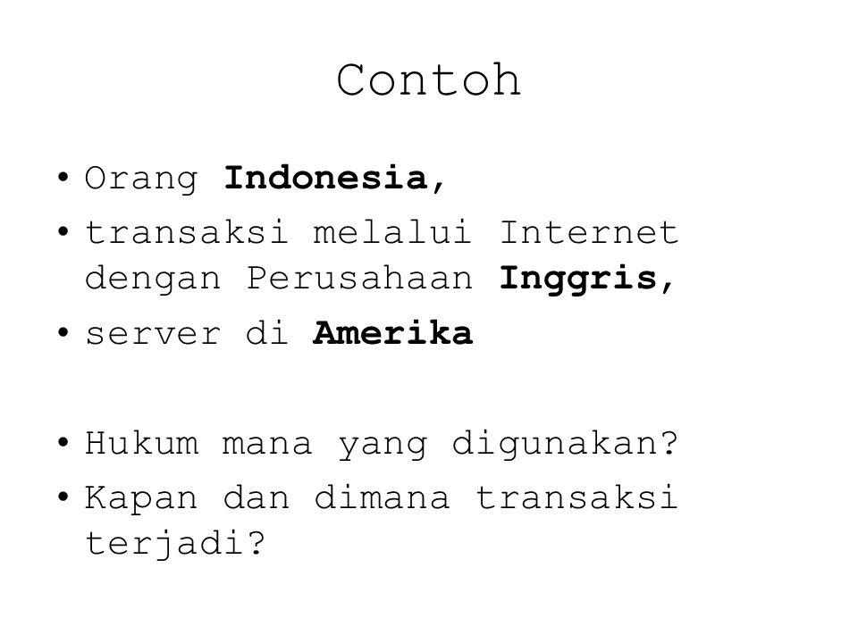 Contoh Orang Indonesia,