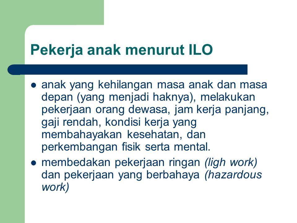 Pekerja anak menurut ILO