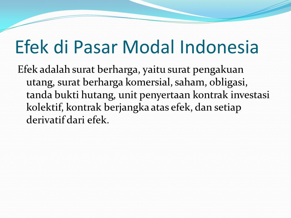 Efek di Pasar Modal Indonesia
