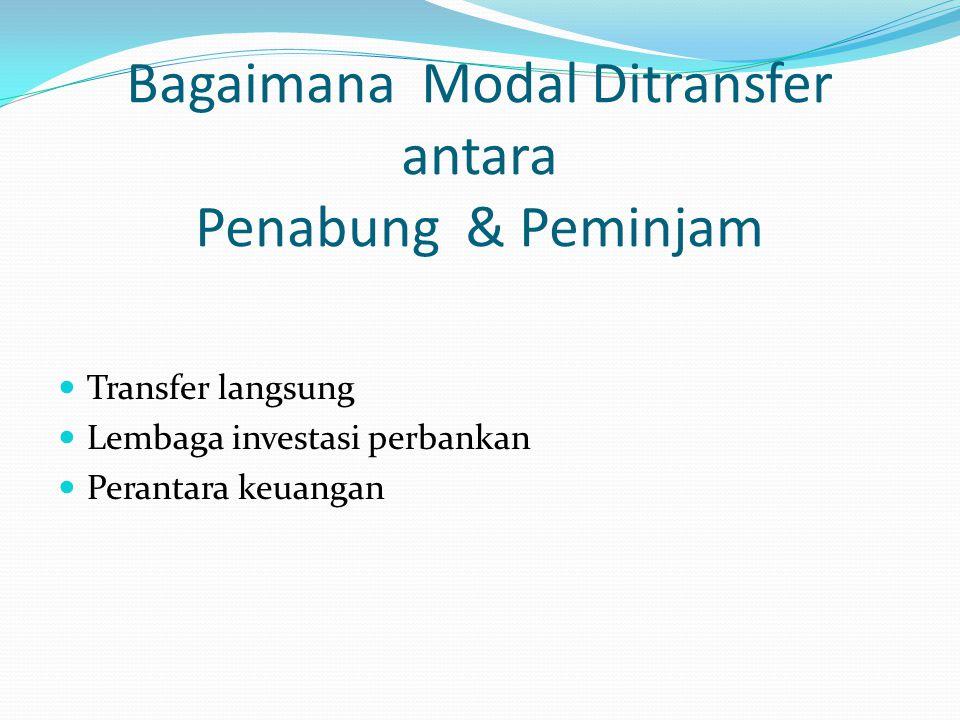 Bagaimana Modal Ditransfer antara Penabung & Peminjam