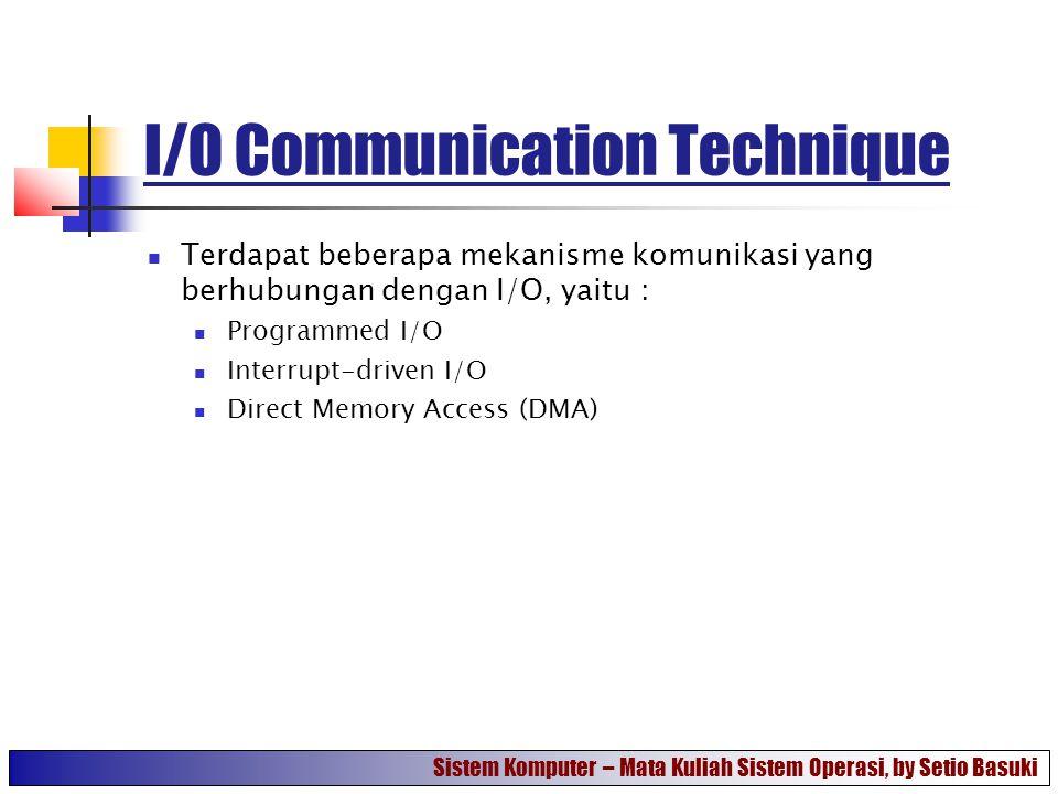 I/O Communication Technique
