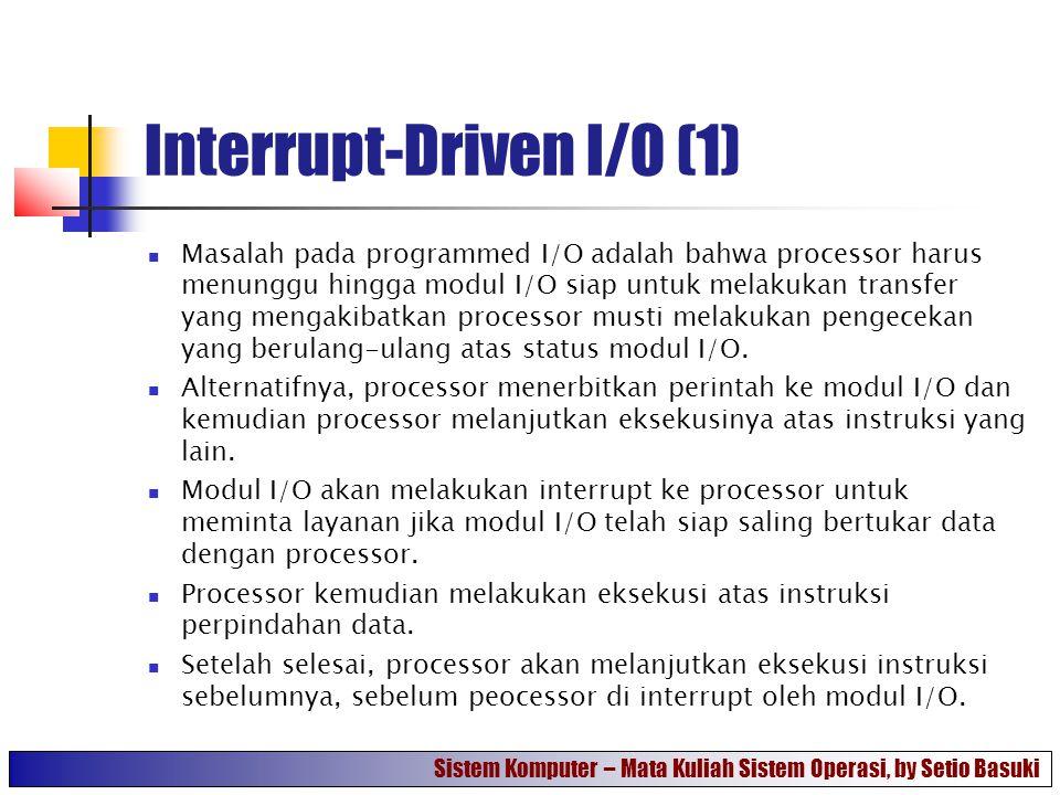 Interrupt-Driven I/O (1)