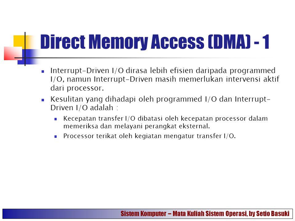 Direct Memory Access (DMA) - 1