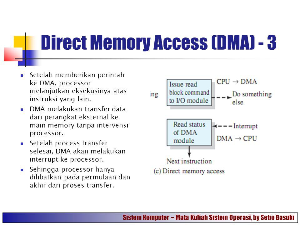 Direct Memory Access (DMA) - 3