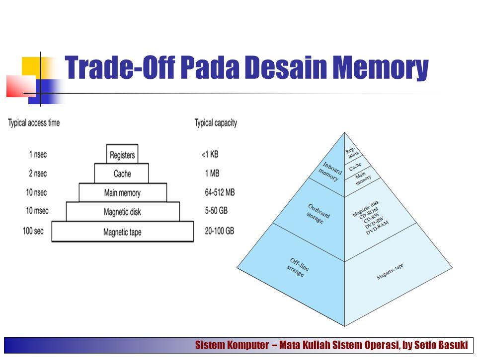 Trade-Off Pada Desain Memory