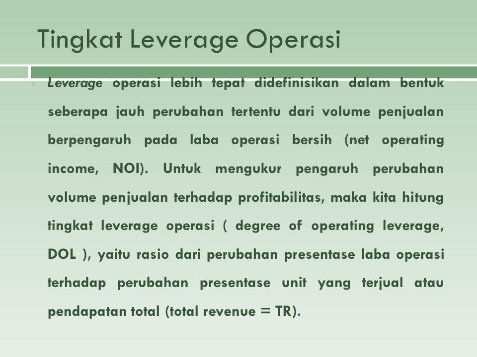 Tingkat Leverage Operasi