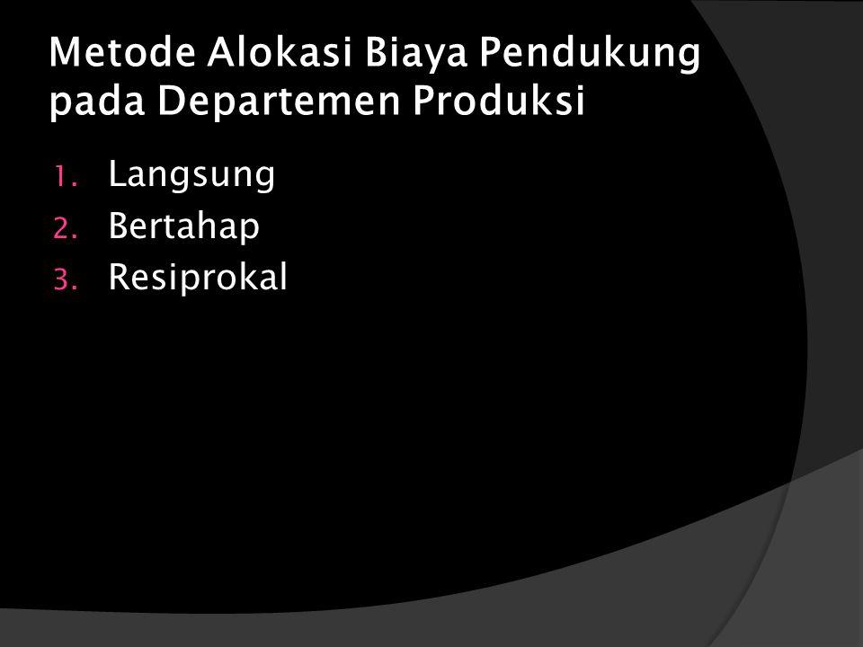 Metode Alokasi Biaya Pendukung pada Departemen Produksi