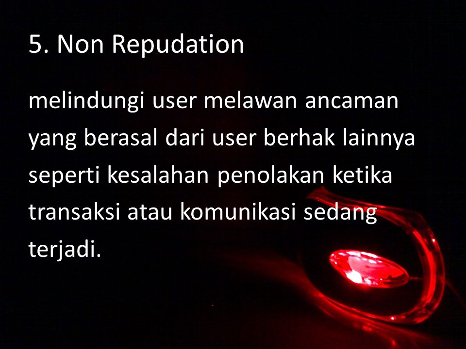 5. Non Repudation