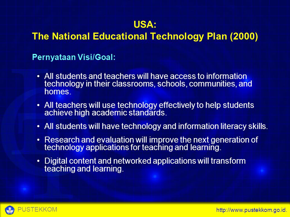 USA: The National Educational Technology Plan (2000)