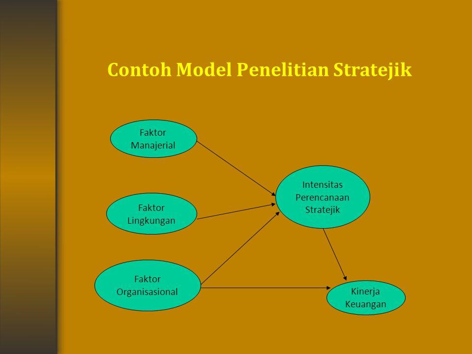 Contoh Model Penelitian Stratejik