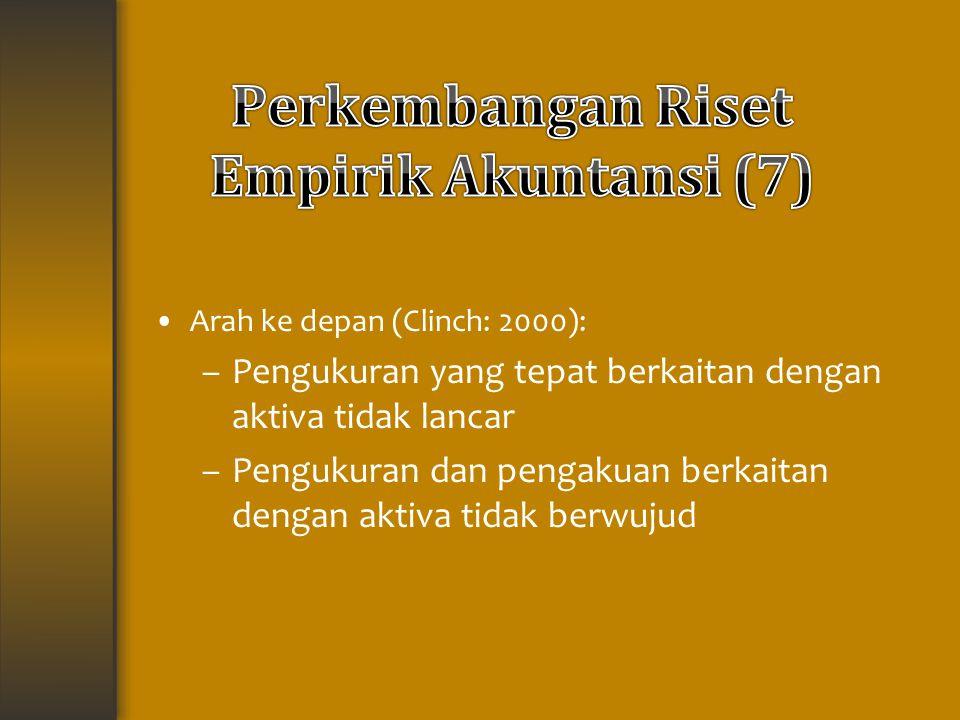 Perkembangan Riset Empirik Akuntansi (7)