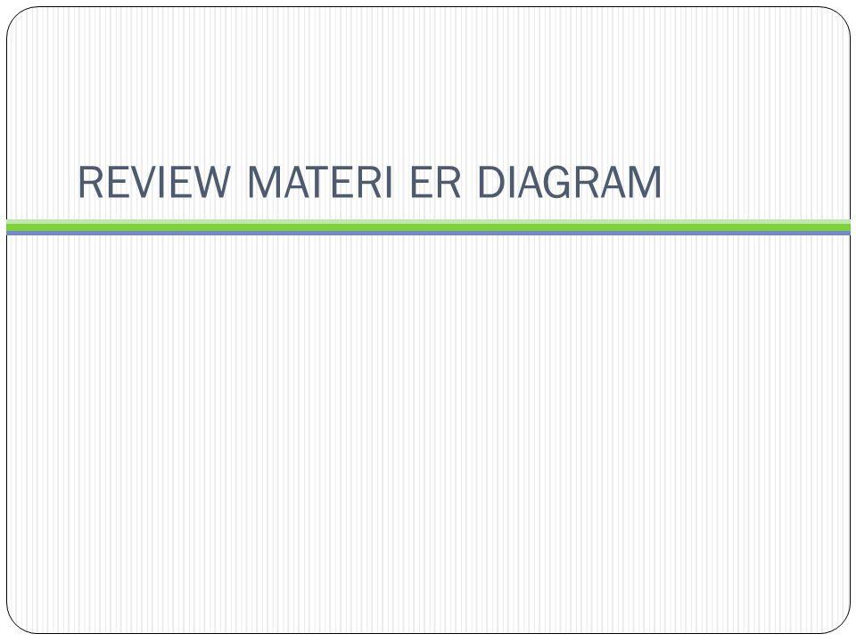REVIEW MATERI ER DIAGRAM