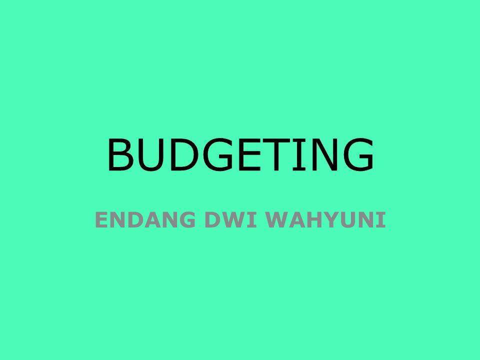 BUDGETING ENDANG DWI WAHYUNI