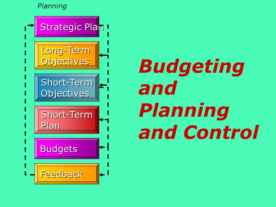 Budgeting and Planning and Control
