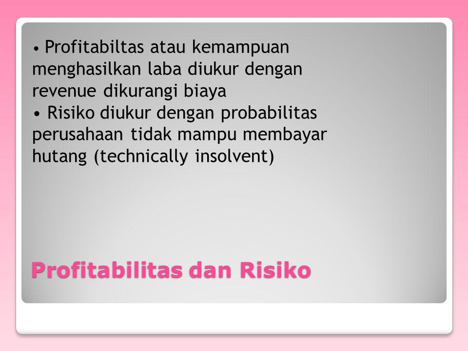 Profitabilitas dan Risiko