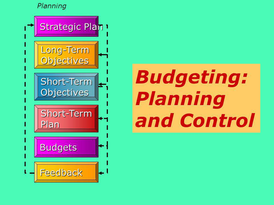 Budgeting: Planning and Control
