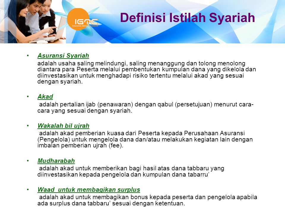 Definisi Istilah Syariah