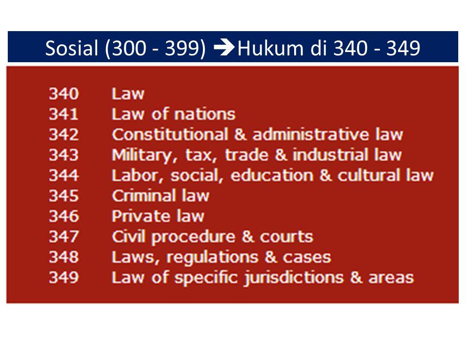 Sosial (300 - 399) Hukum di 340 - 349