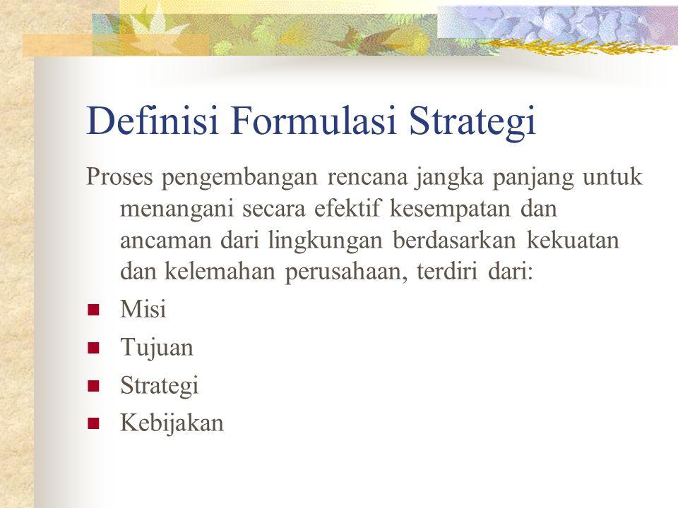 Definisi Formulasi Strategi