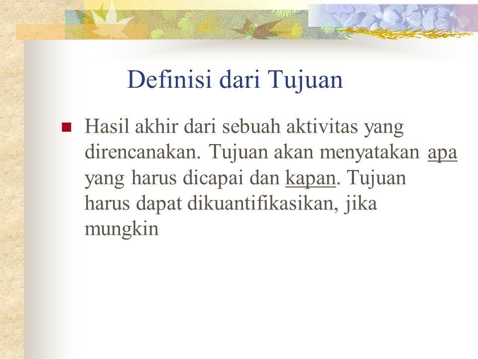 Definisi dari Tujuan